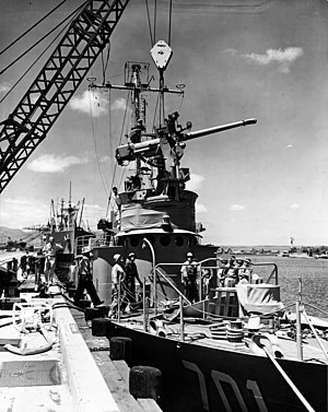 History of the Republic of Korea Navy - Rearming ROKS Beakdusan (PC 701) in Hawaii