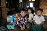 Palaung village children near Kyaukme, Myanmar 2 (2017).jpg