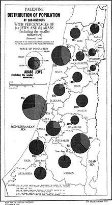 Mappa della distribuzione della popolazione nel 1946