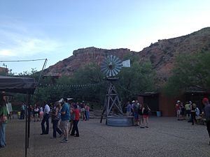 Texas (musical) - The outdoor lobby of Pioneer Amphitheater in Palo Duro Canyon