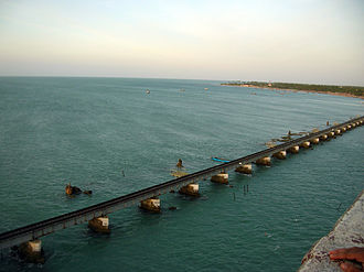 Adam's Bridge - The Pamban railway bridge, which connects Pamban Island with the Indian mainland, was constructed in 1914.