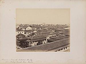 Bori Bunder - Bori Bunder as seen from St. Thomas Cathedral (c. 1855-1862).