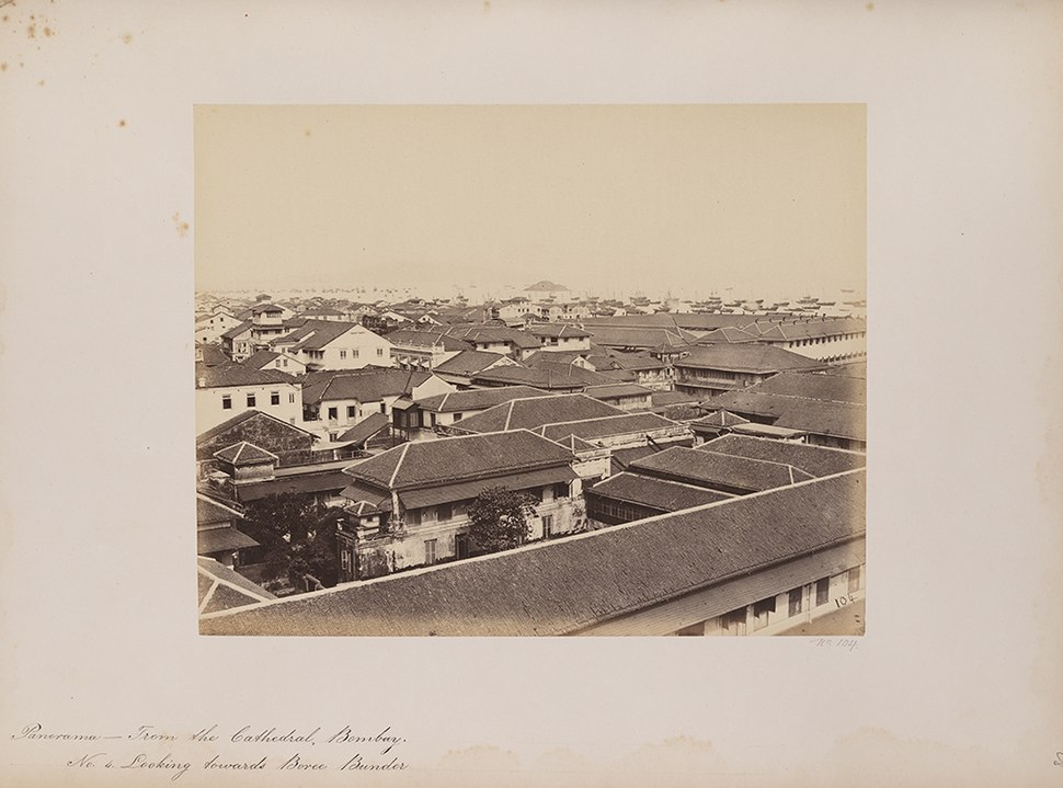 Panorama - From the Cathedral, Bombay. No. 4. Looking towards Boree Bunder (12675171104)