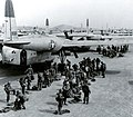Paratroopers board C-119s for the Munsan-ni airdrop on 23 March, 1951.jpg