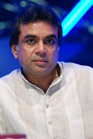 Paresh Rawal on the sets of Star Voice of India