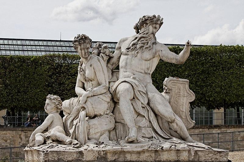 Fichier:Paris - Jardin des Tuileries - Corneille Van Cleve - La Loire et le Loiret - PA00085992 - 001.jpg