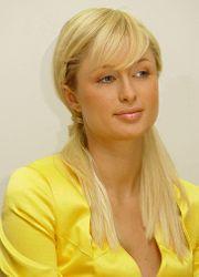Paris Hilton lors d'une conférence de presse pour GoYellow.de le 20 mai 2005 à Munich.