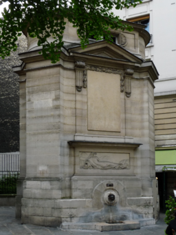 Paris rue des haudriettes fontaine