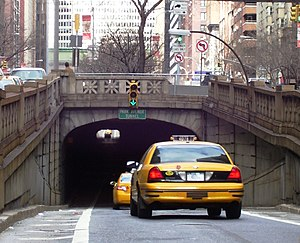 Park Avenue Tunnel (roadway) - South end of tunnel