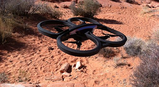 Parrot AR.Drone 2.0 take-off, Nevada