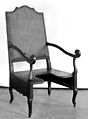 Parturition chair from Lorraine, late 17th century. Wellcome M0007447.jpg