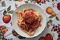 Pasta di casa con melanzane in Calabria.jpg