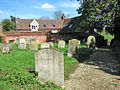 Path through St Margarets churchyard, Stradishall (geograph 2924327).jpg