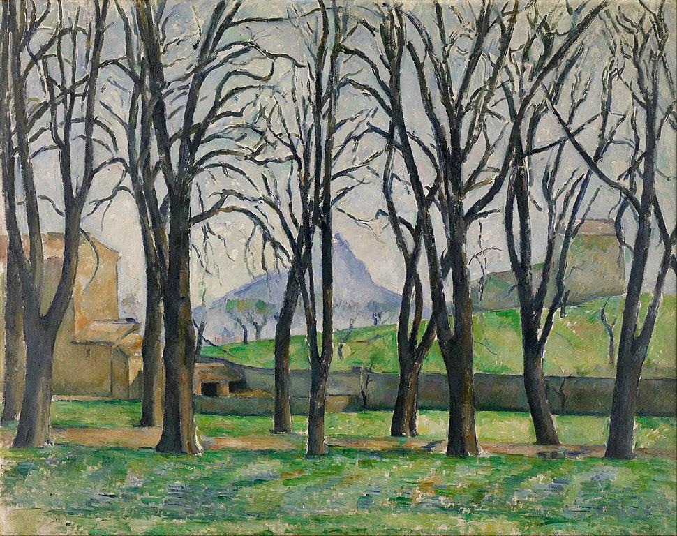 Paul C%C3%A9zanne - Chestnut Trees at Jas de Bouffan - Google Art Project