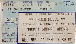 Under My Spell Tour - Image: Paula Abdul concert ticket 1991 Stierch