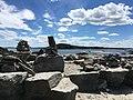Peaks Island, Maine rock cairns.jpg