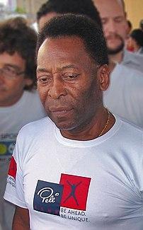 {{pt|O ex-futebolista brasileiro Pelé.
