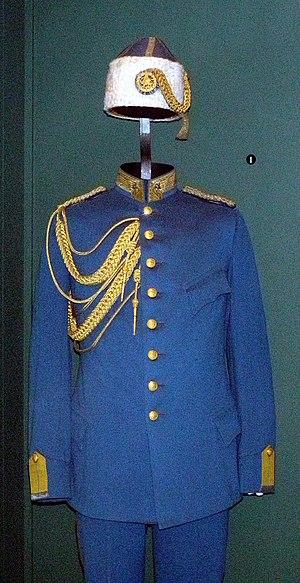 Iranian Gendarmerie - General Harald Hjalmarson's uniform on display at the Swedish Army Museum