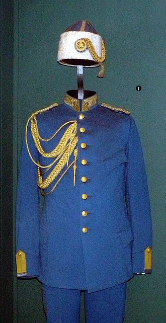 Iranian Gendarmerie - General Harald Hjalmarson's uniform on display at the Swedish Army Museum