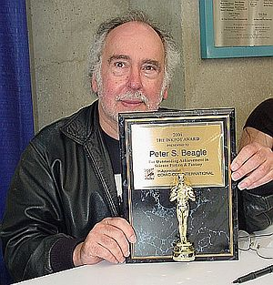 Peter S. Beagle -  Beagle with the Inkpot Award at San Diego Comic-Con, 2006