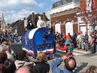 Pézenas - The Poulain from Pézenas (visiting Steenvoorde, in northeast France, for the Festival of Giants in 2006)