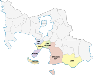 Legislative districts of Batangas - 2nd district of Batangas, 1987–2016