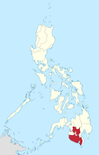 Map of the Philippines highlighting soccsksargen