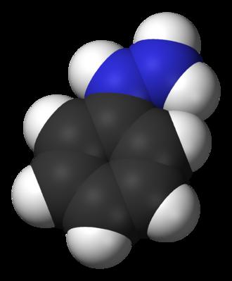 Phenylhydrazine - Image: Phenylhydrazine 3D vd W
