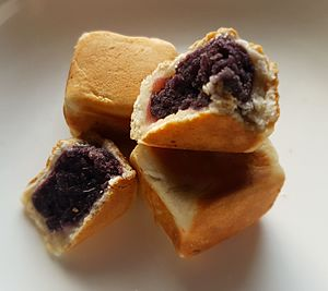 Bakpia - Ube hopia from the Philippines