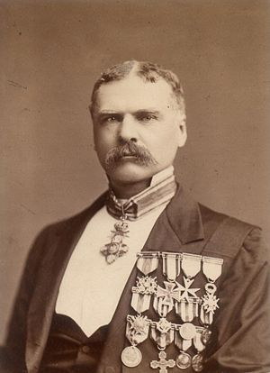 Archibald Forbes - Archibald Forbes, by Elliott & Fry, c. 1880s.