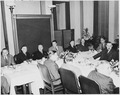 Photograph of President Truman at a luncheon commemorating the one-hundredth anniversary of the founding of the U.S.... - NARA - 200097.tif