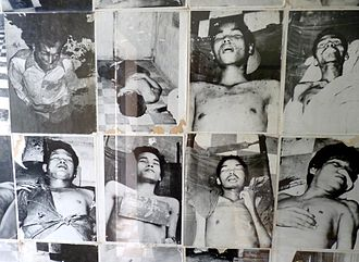 Khmer Rouge Killing Fields - Rooms of the Tuol Sleng Genocide Museum contain thousands of photos taken by the Khmer Rouge of their victims.