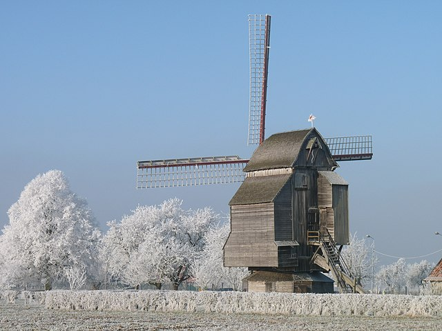 7th place: Windmill of Riele, Nord-Pas-de-Calais, by Michel.ragons