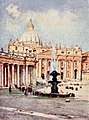 Piazza di San Pietro and St. Peter's Basilica by Alberto Pisa (1905).jpg