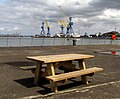 Picnic table, Belfast docks - geograph.org.uk - 1274219.jpg