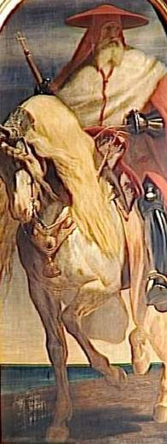 Pierre d'Aubusson - Pierre d'Aubusson on horseback, as painted by Edouard Odier, 1841.