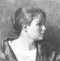 Piet Mondriaan - Female head in profile - A128 - Piet Mondrian, catalogue raisonné.jpg