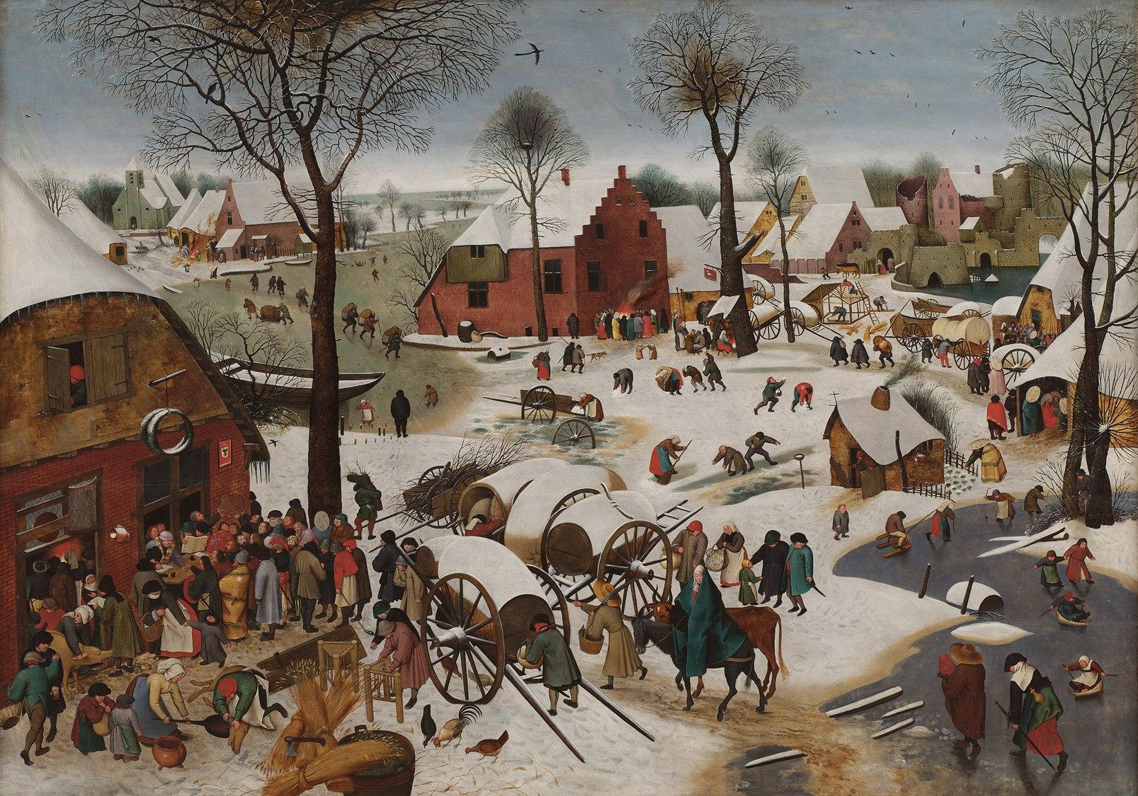 Pieter Brueghel de Jonge - Volkstelling te Bethlehem, 1605-1610.jpg