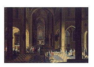 Pieter Neefs the Younger - Image: Pieter Neefs the Younger Interior of a Cathedral, Night Scene