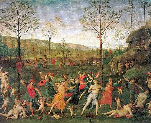 Pietro Perugino - The Combat Between Love and Chastity