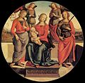 Pietro Perugino - Virgin and Child Enthroned with Angels and Saints - WGA17293.jpg