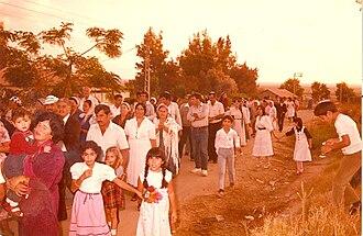 Mlilot - Inauguration of a Torah scroll in Mlilot in the 1980s
