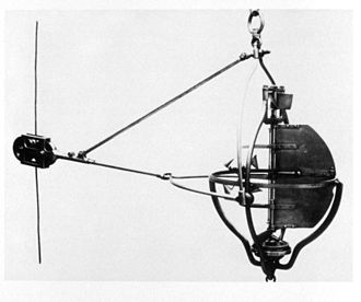 John E. Pillsbury - Pillsbury Current Meter, devised in 1876 by Pillsbury and used in a study of the Gulf Stream. In 1885 this instrument was used in the Straits of Florida at a depth of 640 meters