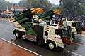 Pinaka 214 MM Multiple Barrel Rocket Launcher System passes through the Rajpath during the 66th Republic Day Parade 2015, in New Delhi on January 26, 2015.jpg