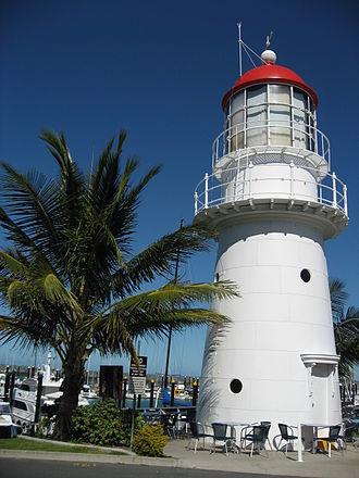 Pine Islet Light - The original Pine Islet lighthouse, now at Mackay Marina