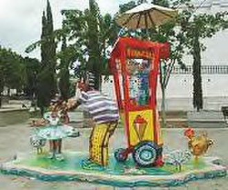 Shaved ice - Artistic representation of a Piragua cart.