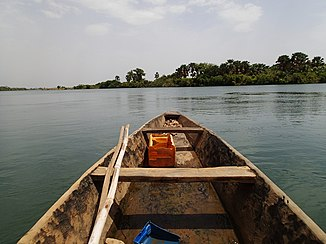 View of the Bafing from a pirogue just before the mouth