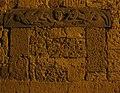 Pitigliano di notte 17 architrave scolpito di vecchia chiesa di s. maria, xii-xiii sec.JPG