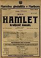 Plakat za predstavo Hamlet kraljevič danski v Narodnem gledališču v Mariboru 24. maja 1925.jpg