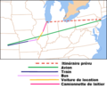 Planes trains automobiles route map FR.png